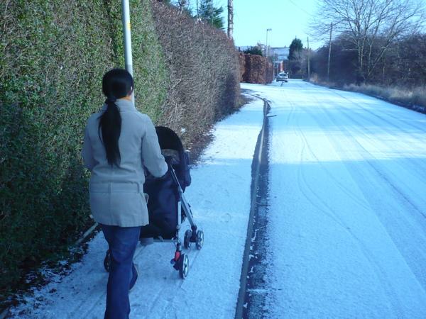 積了厚厚的雪