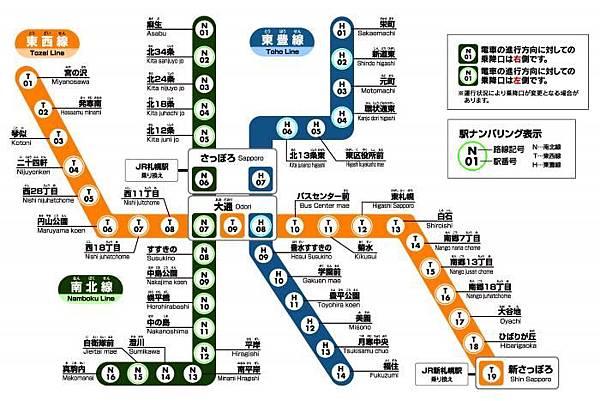 日本九個城市的地下鐵簡介~