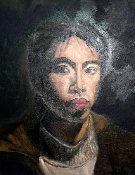 《自畫像》,2004年,油彩、畫布,10F。