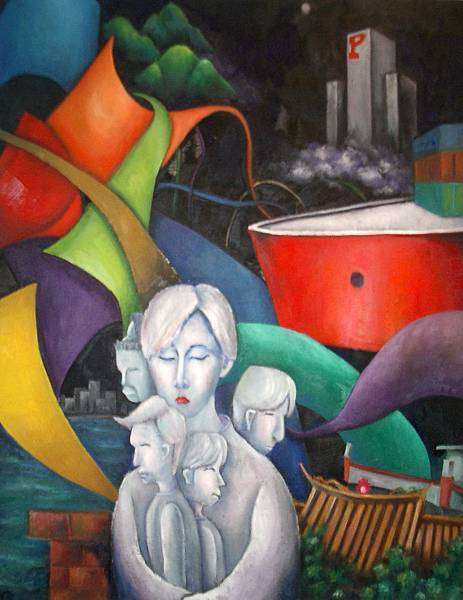 《故鄉の容顏》,2003年,油彩、畫布,50F。