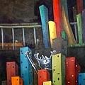 《異化前の最後掙扎》,2003年,油彩、畫布,30F。