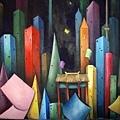 《都市の模樣》,2003年,油彩、畫布,30F。