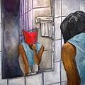 《化粧》,2003年,油彩、畫布,10F。