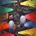 《都市の倒影》,2004年,油彩、畫布,30F。