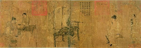 《蕭翼賺蘭亭圖》,北宋仿閻立本摹本。