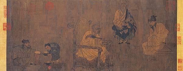 《蕭翼賺蘭亭圖》,南宋仿閻立本摹本。