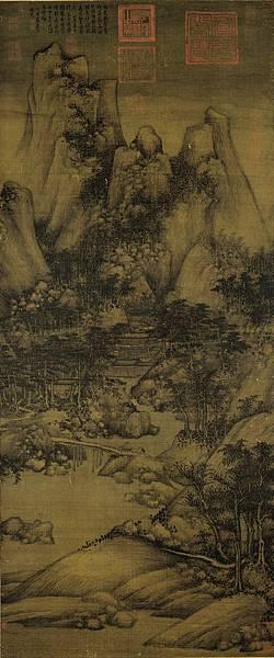 《蕭翼賺蘭亭圖》,南宋仿巨然摹本。
