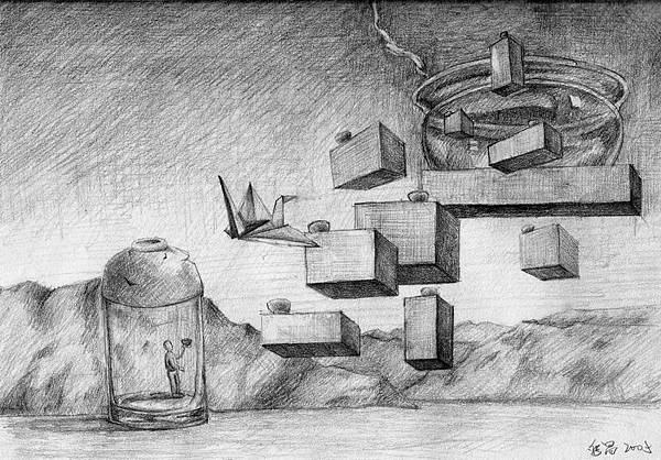 《千錘百鍊焠英華》,2005年,鉛筆、紙。