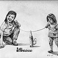 《沒有壞孩子,只要我們肯蹲下來聽他說話》,2005年,鉛筆、紙。