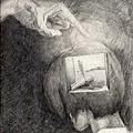 《給他智慧,使他不再疑惑;給他文學,使他永不貧乏;陪他探索,使他視野遼闊》,2005年,鉛筆、紙。