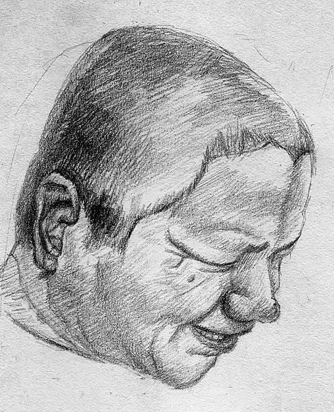 《尤榮坤先生肖像》,2005年,鉛筆、紙。