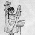 《指揮》,2005年,鉛筆、紙。