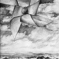 《未來是屬於海闊天通的人》,2005年,鉛筆、紙。