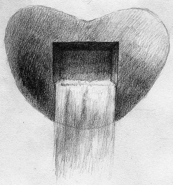 《永不止息的心流-2》,2005年,鉛筆、紙。