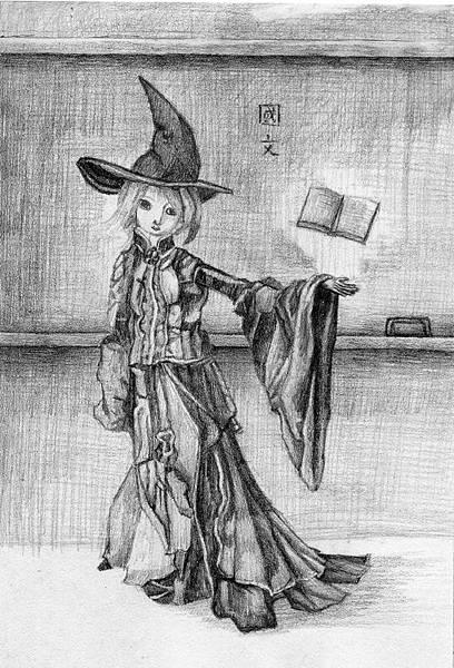 《教學奇術師》,2005年,鉛筆、紙。