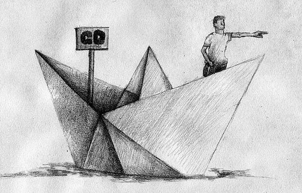 《實習生涯自己決定》,2005年,鉛筆、紙。