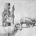 《願當牧者,引領迷途羔羊》,2005年,鉛筆、紙。