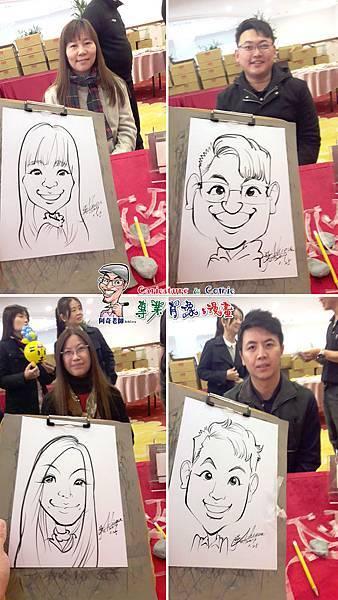 阿奇 肖像 來賓 活動 漫畫 繪製 貴賓 手繪 現場 生日 專業 行銷 廠商 Q版畫 似顏繪 人像 Q版 漫畫人像002.jpg