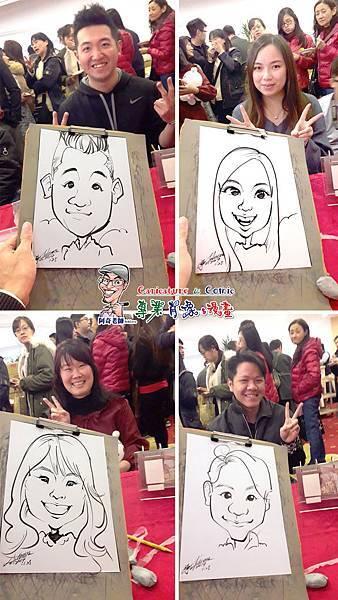 阿奇  肖像  來賓  活動  漫畫  繪製  貴賓  手繪  現場  生日  專業  行銷  廠商  Q版畫  似顏繪 人像  Q版  漫畫人像005.jpg