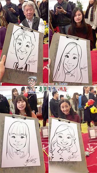 阿奇 肖像 來賓 活動 漫畫 繪製 貴賓 手繪 現場 生日 專業 行銷 廠商 Q版畫 似顏繪 人像 Q版 漫畫人像003.jpg