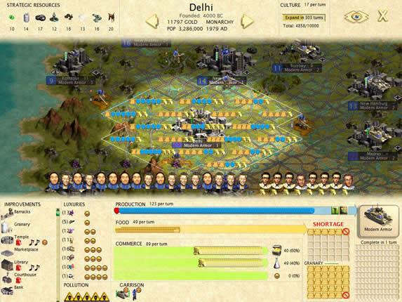 29遊戲初最對的決定,征服印度。看看這副都心-s