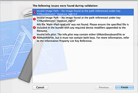 Xcode_IssueFoundExample