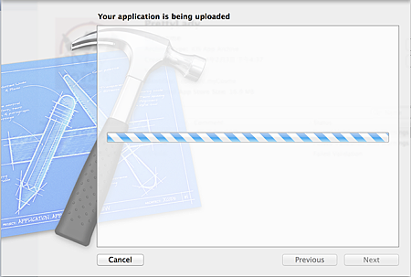 Xcode_Being Uploaded