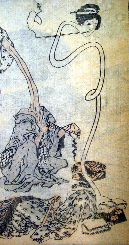 轆轤首(葛飾北齋「北齋漫畫」)