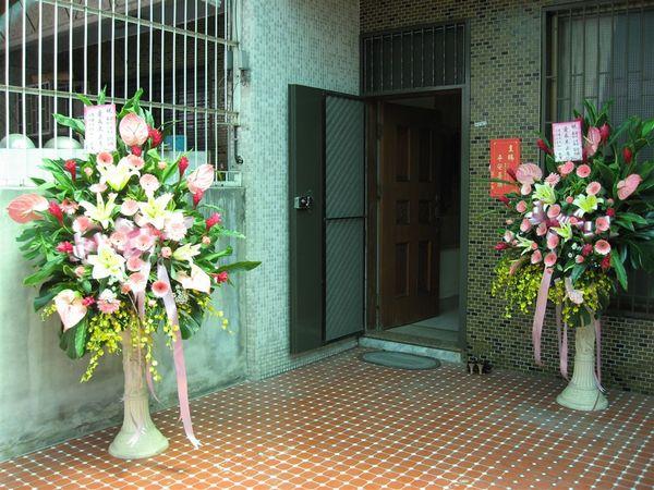 大門~花是送的