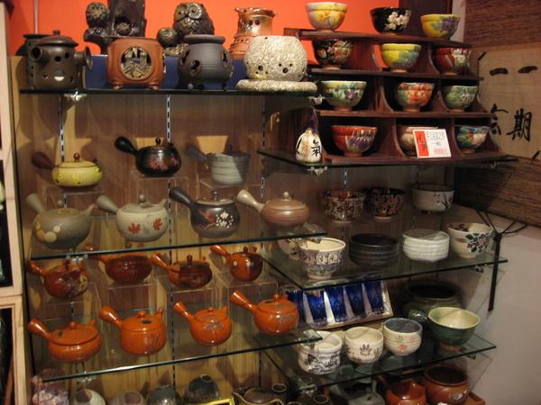 店裡賣的陶瓷器
