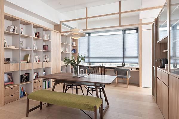 餐廳+書房設計