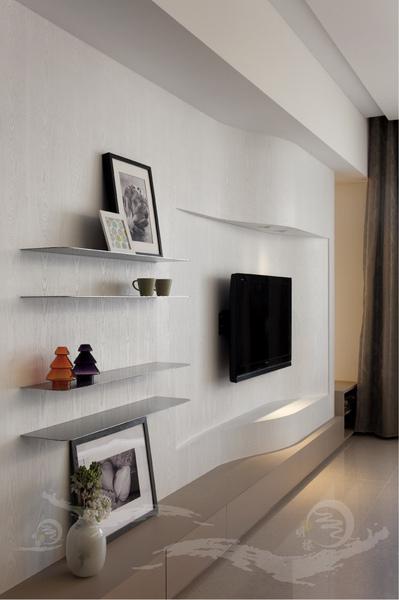 弧形電視牆設計