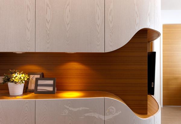 弧形電視櫃設計