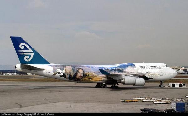 飛往紐西蘭的魔戒班機