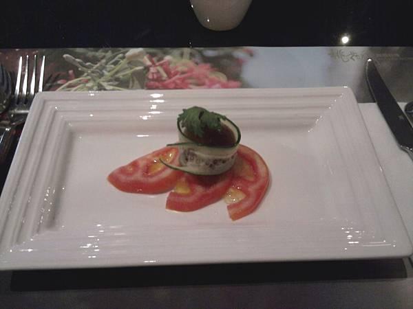 前菜─紫蘇梅凍明蝦