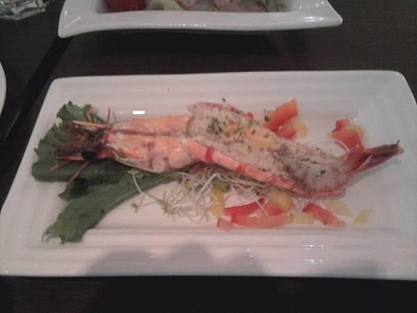 蒜隻白酒烤紅鮮蝦