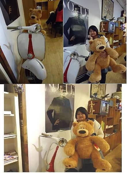 熊與偉士牌.JPG