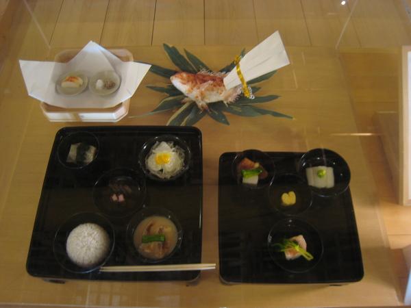 江戶期的本膳料理模型