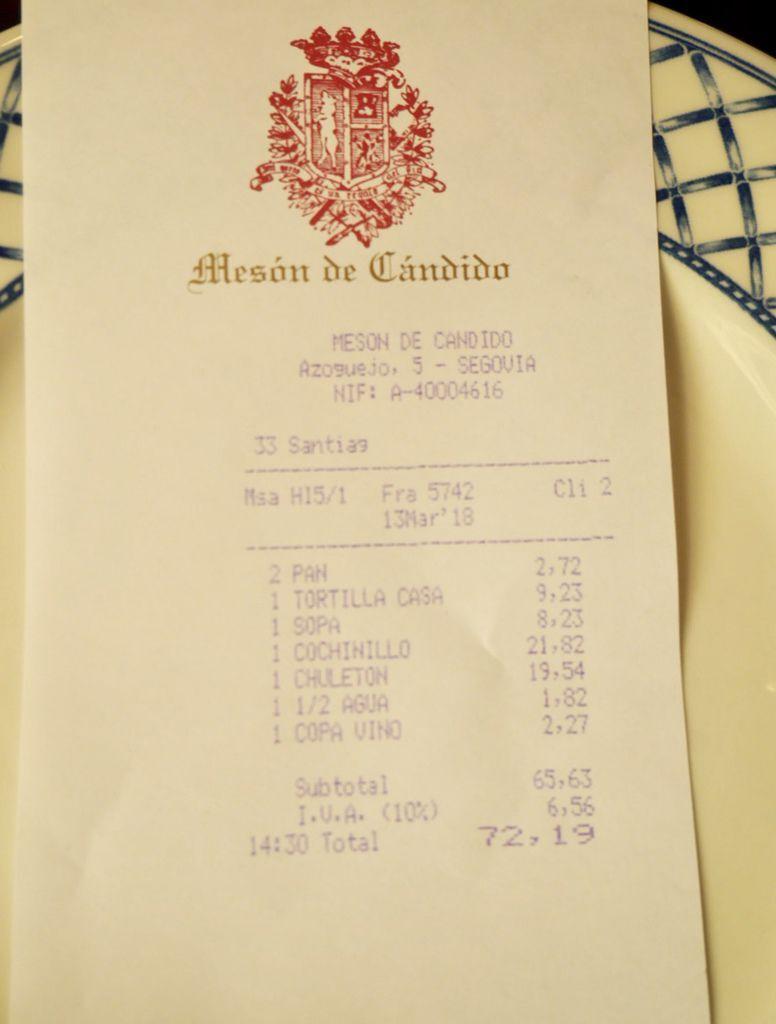 賽哥維亞Segovia必吃烤乳豬Meson De Candido