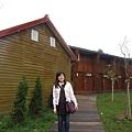 福壽山農場的住宿區比武陵農場多很多,這是其中一處小木屋