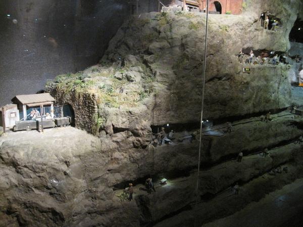 以前礦坑內工作的模型