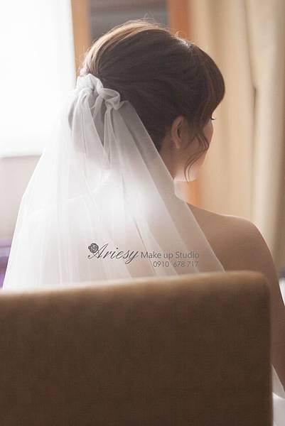 ariesy, 愛瑞思, 新娘秘書, 新秘, 蓬鬆編髮, 喜來登, 鮮花,日系新娘,新秘推薦,歐美風
