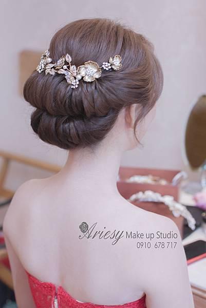 ariesy,愛瑞思,新娘秘書,新秘,編髮,鮮花造型,新娘秘書教學,歐華飯店