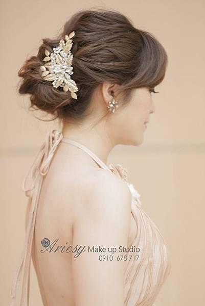 ariesy,愛瑞思,新娘秘書,新秘,編髮,鮮花造型,新娘秘書教學,京采飯店