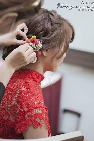 ariesy,愛瑞思,新娘秘書,新秘,編髮,台北新秘,徐州路2號,自然輕透,鮮花造型