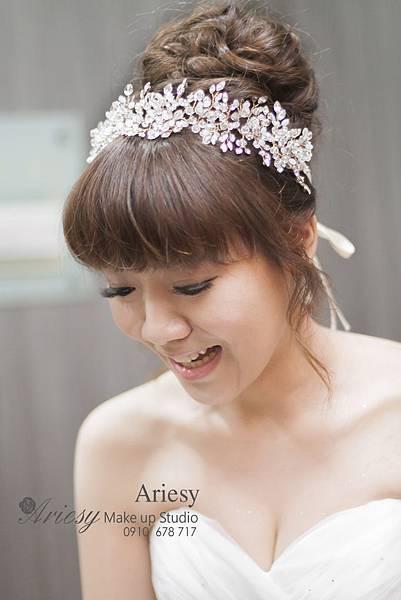 ariesy,愛瑞思,新娘秘書,新秘,編髮,美麗華華漾,鮮花,新秘教學