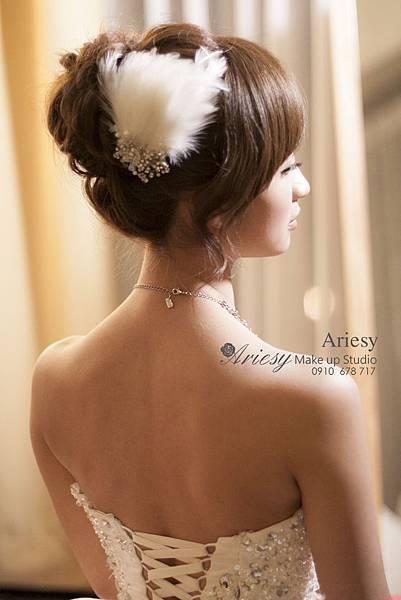 ariesy,愛瑞思,新娘秘書,新秘,編髮,中和福朋喜來登,鮮花造型,新娘秘書教學
