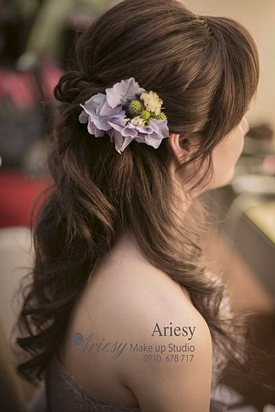 ariesy,愛瑞思,新娘秘書,新秘,編髮,寒舍艾美,新秘教學,鮮花造型,新秘推薦