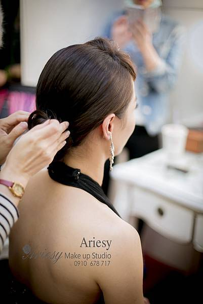 Ariesy,愛瑞思,新娘秘書,新秘,板橋囍宴軒,編髮,時尚造型,新秘推薦,歐美風