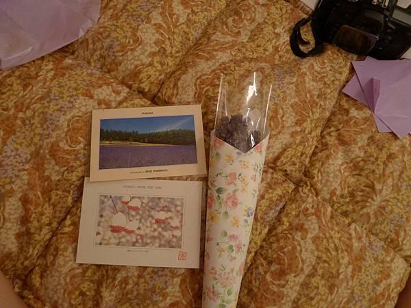 明信片跟乾燥的薰衣草~